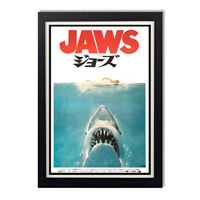 Jaws Steven Spielberg Japanese Movie Poster Reproduction Poster 11x24in 24x36in