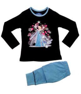 Disney Official Frozen Girls Olaf Anna Elsa Sleepwear Pjs Pyjamas Nightwear New