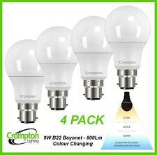 4 x LED 9W Light Globes Bulbs Bayonet Colour Changing Warm Cool White Daylight