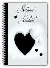 A5 Personalizzata nota LIBRO SAN VALENTINO REGALO / A5 Notebook / 50 FODERATO pagine / Cuori 4