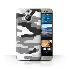 Case/Back Cover HTC One M9+/Plus / Camouflage Army Navy / White 2