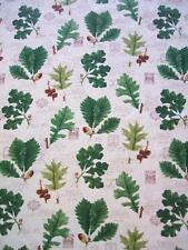 Cream Leaves Oak Leaf Acorn Botanical Timeless Treasures Fabric Yard