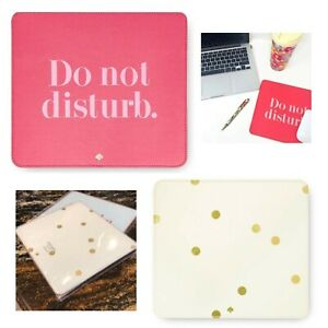 Kate Spade Designer Leatherette Mouse Mat Pad Non Slip Back Various Designs