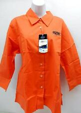 NCAA Oklahoma State Cowboys Women's Sleeve Button Front Blouse, Sunkissed, X-L
