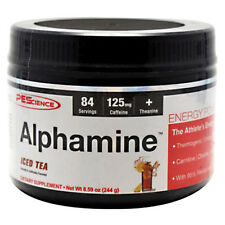 PES Alphamine 84 Serving Thermogenic Fat Burner ICED TEA