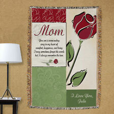 Personalized Mom Tapestry Throw Blanket  Mother's Day Christmas Birthday Gift