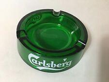 "Vintage Carlsberg ashtray from Uk England green 4 1/2"" diameter pub man cave"