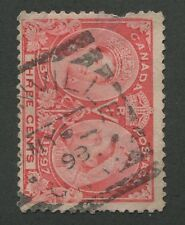 """CANADA #53 USED JUBILEE SQUARED CIRCLE CANCEL """"DUNNVILLE"""""""
