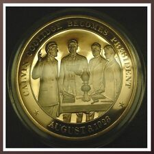 1923 Calvin Coolidge Becomes President - SOLID BRONZE Franklin Mint Medal