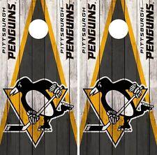 Pittsburgh Penguins Cornhole Wrap NHL Vintage Game Skin Set Vinyl Decal CO260