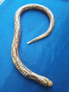 Vintage Wooden Articulated Jointed Novelty Snake Treen