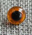 Antique Vtg Glass Eye Button Paperweight Charmstring   Aprx 3 8 123 B