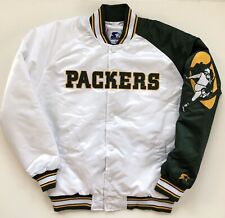 Green Bay Packers Starter Dugout Throwback Championship Varsity Jacket Large