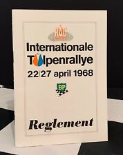 1968 INTERNATIONAL TULPEN TULIP RALLY REGULATION REGLEMENT PROGRAMME ROGER CLARK