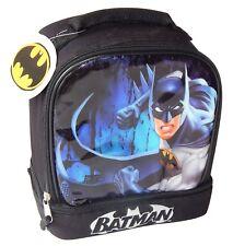 BATMAN DC COMICS Boys Dual Chamber LeadSafe Insulated Lunch Bag Box Tote NWT