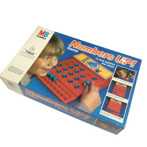 Vintage Retro MB Games 1982 Numbers Up! Sequence Family Fun Memory Game