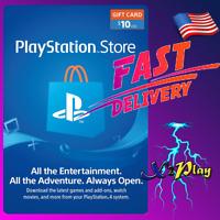 PlayStation Network 10 USD PSN Card $10 PS3 PS4 PS5 [USA]