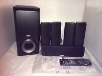 RCA RTD317W Surround Home Theater Set of 5 Speakers subwoofer, remote used