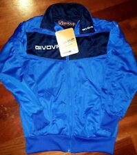 Givova Tuta Visa boys Jacket Front Zip blue color in size Xs (7/8 yrs old) New!