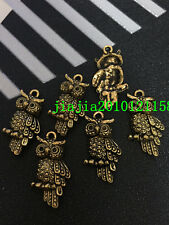 PJ355 10pc Tibetan Gold The owl Bead Charms Accessories wholesale