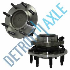 Front Wheel Hub and Bearing Pair 2001-2007 Chevy Silverado 3500 w/ ABS 2WD RWD
