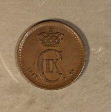 New listing 1883 Denmark 1 Ore Very High Grade * Free U.S. Shipping *