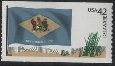 US 2008 SCOTT #4282 DELAWARE STATE FLAG 42c FLAGS OF OUR NATION SET 1 MVF Stamp