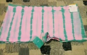 Justice Girls Oh So Soft Pink And Green Tie Dye Underwear Size 16/18 NWT