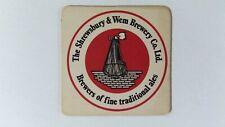 The Shrewsbury & Wem Brewery Co. Beer Mat Beer Coaster