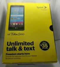New! LG Tribute Duo - 8GB - Blue (Sprint) Smartphone