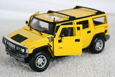 1:27 Hummer H2 Maisto Yellow Black Die Cast
