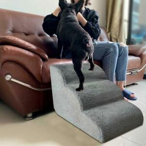 Sponge Soft Portable Dog Puppy Ladder Doggy Pet Steps Stairs Ramp Washable Cover