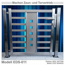 Edelstahl  Pforte, Tür, Zaun,Gartentor, Eisentor,Tor!