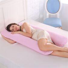 Full Body Pillow - U Shaped Pregnancy Pillow for Pregnant Women & Maternity Pink