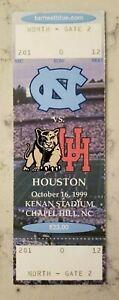 North Carolina Houston Cougars Football FULL Ticket 10/16 1999 Crumpler TE Stub