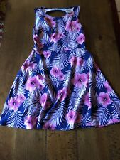 pink victoria secret Sun Dress Size Small Pink And Blue