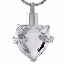 Cremation Memorial keepsake, Heart Urn necklace and Pendant for Ashes/hair.
