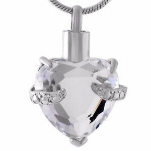 Cremation Memorial keepsake Heart Urn necklace and Pendant for Ashes/hair.