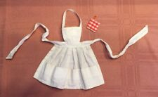 Vintage Barbie Q Whats Cooking White Apron  And Hot Pad