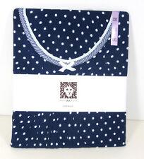 NEW Anne Klein Navy & White Dot Women's Chemise Night Shirt Gown XXL 22-24