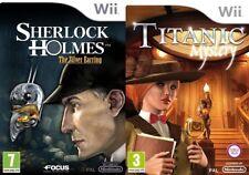 sherlock holmes the silver earring & titanic mystery    wii  pal