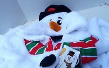 Brieflly Stated Pajama PJs One Piece Snowman Union Suit Snow Man Christmas M NEW