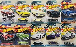 hot wheels Premium Set Of 10 New And Vintage Convertibles 2021 New Release