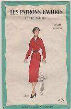 """Patron couture vintage  """"Les patrons favoris"""" Robe Taille 44"""