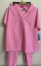 Nwt Barco Uniforms Women's 2X Medical Scrubs, 2 Piece Top and Bottom, Bubblegum