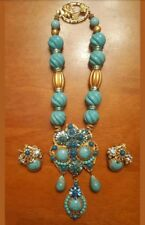 Custom Vintage Miriam Haskel Necklace & Earring set Early 30's