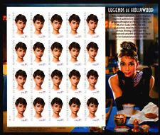3786 Audrey Hepburn  Legend of  Hollywood Unfolded Mint NH sheet