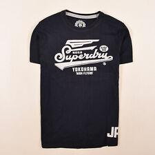 Superdry Herren T-Shirt Shirt Classic Gr.L Yokohama High Flyers Navy Blau 86576