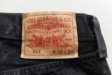 Vintage Levi's 501 | Black Jeans | W32 L32 |  classic straight denim