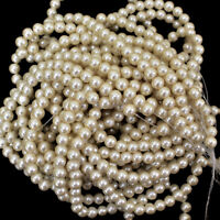 Ivory Color Round Glass Pearls Pearl Beads for Beading Craft and Jewelry Making